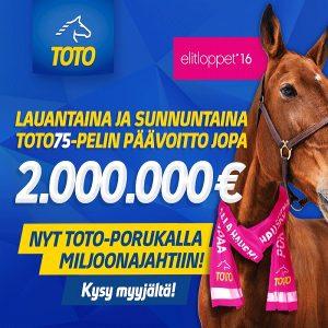 Elitloppet-raveissa kaksi Toto75-peliä – jaossa jopa 4 miljoonaa euroa!