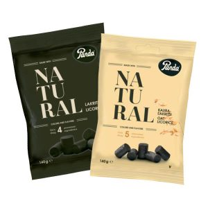 Panda Natural Lakritisi ja Kauralakritsi 2 kpl 3 €