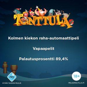 Tonttula - uusi jouluinen raha-automaattipeli