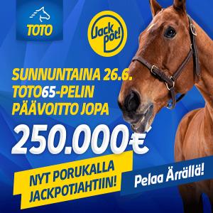 Lauantaina Toto76-pelissä jackpot – päävoitto jopa 450.000 euroa!