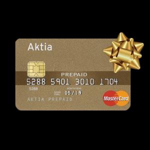 Aktia MasterCard Prepaid – lahjakortti joka toimii kaikkialla