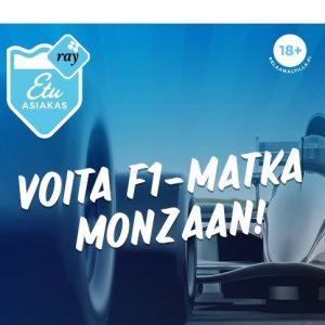 Osallistu RAY:n kilpailuun ja voita F1-matka Monzaan!