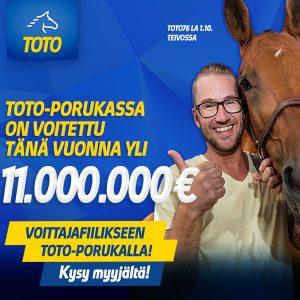 Toto-porukassa voitettu jo yli 11 miljoonaa!