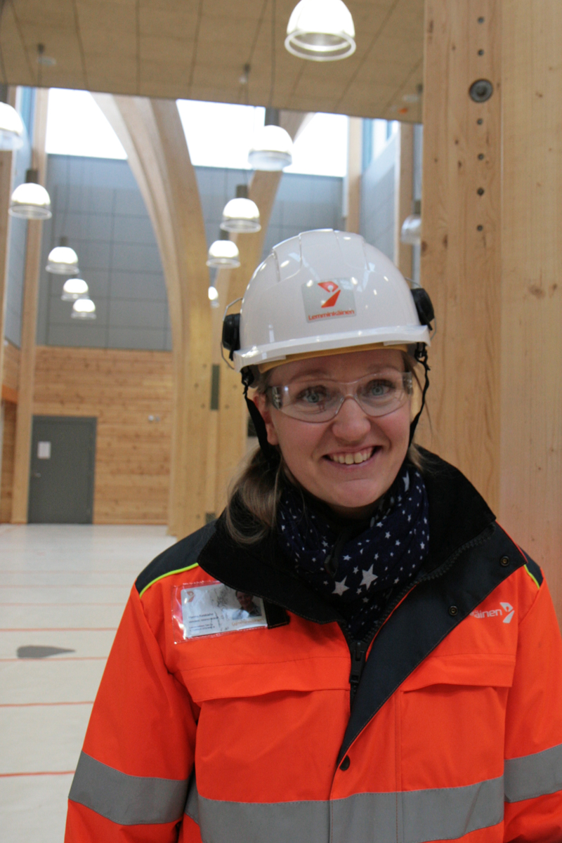Hanna Keskiaho, Purchasing Engineer at the construction company Lemminkäinen Talo Oy. Photo: Anna Kauppi
