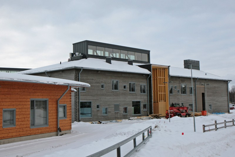 The log-built school centre in Pudasjärvi. Photo: Anna Kauppi