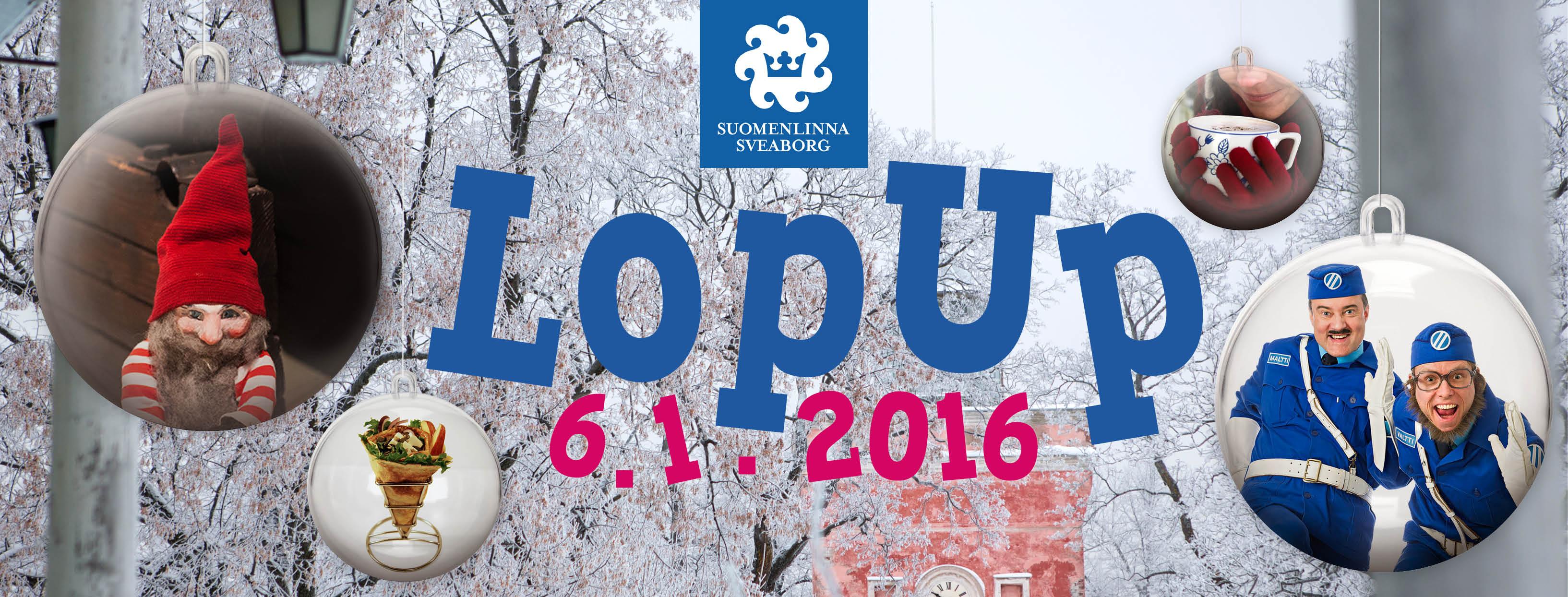 Suomenlinnan LopUp banneri