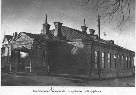 Suomenlinnan kansakoulu n. 1930.