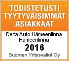 Todistetusti tyytyväisimmät asiakkaat 2016 sertifikaatti