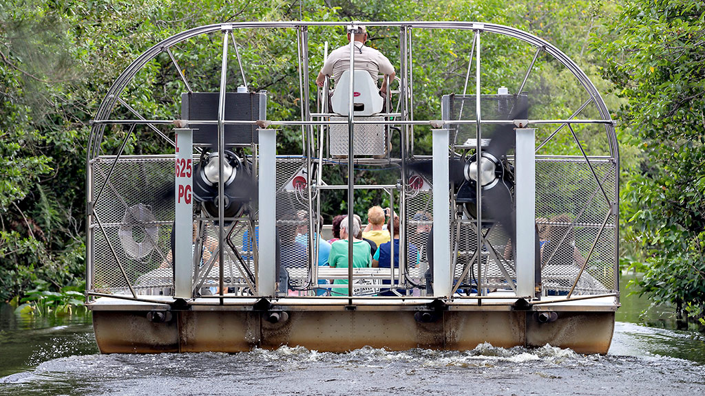 An airboat in Shark Valley