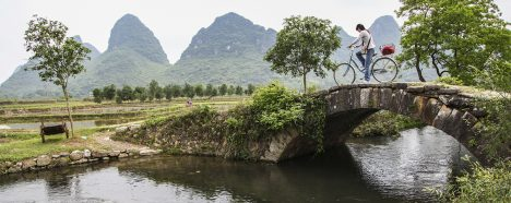 Explore rural China by bike