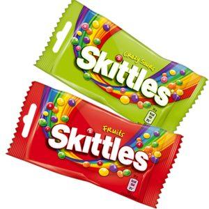 Skittles-pussit 1 €