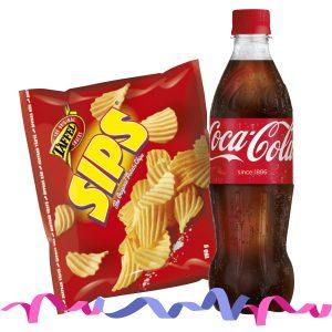 Taffel midi -pussi ja 0,5 l Coca-Cola tai Fanta 3,50 €