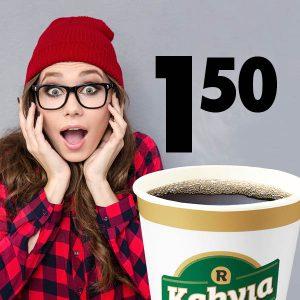 Virtaa opiskeluun - opiskelijakahvi 1,50 €