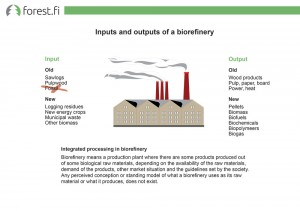Inputs and outputs of a biorefinery