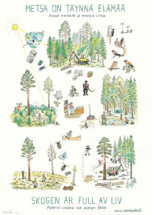 Metsä on täynnä elämää -juliste
